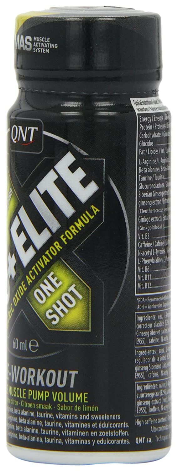 Amazon.com: QNT NO+ Elite 60 ml Citrus Muscle Building Pre-Workout Energy Shots - Box of 12: Health & Personal Care
