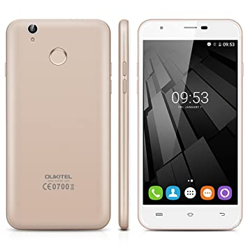 Oukitel U7 Plus - 4G Smartphone Libre Android 6.0 (Pantalla 5.5 IPS, MT6737 Quad Core 1.3 GHz, 2GRam, 16GRom, Dual Sim, Huella Dactilar Smart Wake) ...