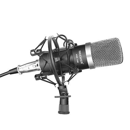Neewer NW-700 Professional Studio Recording Condenser Microphone Set, Black