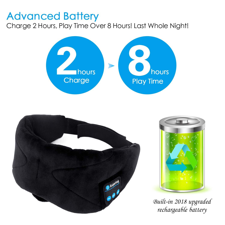 ink-topoint Bluetooth Sleep Eye Mask Headphones, Sleeping Eye Shades Bluetooth 4.2 Music Headset Wireless Sleep Mask with Built-in Speaker Washable for Traveling Relaxing