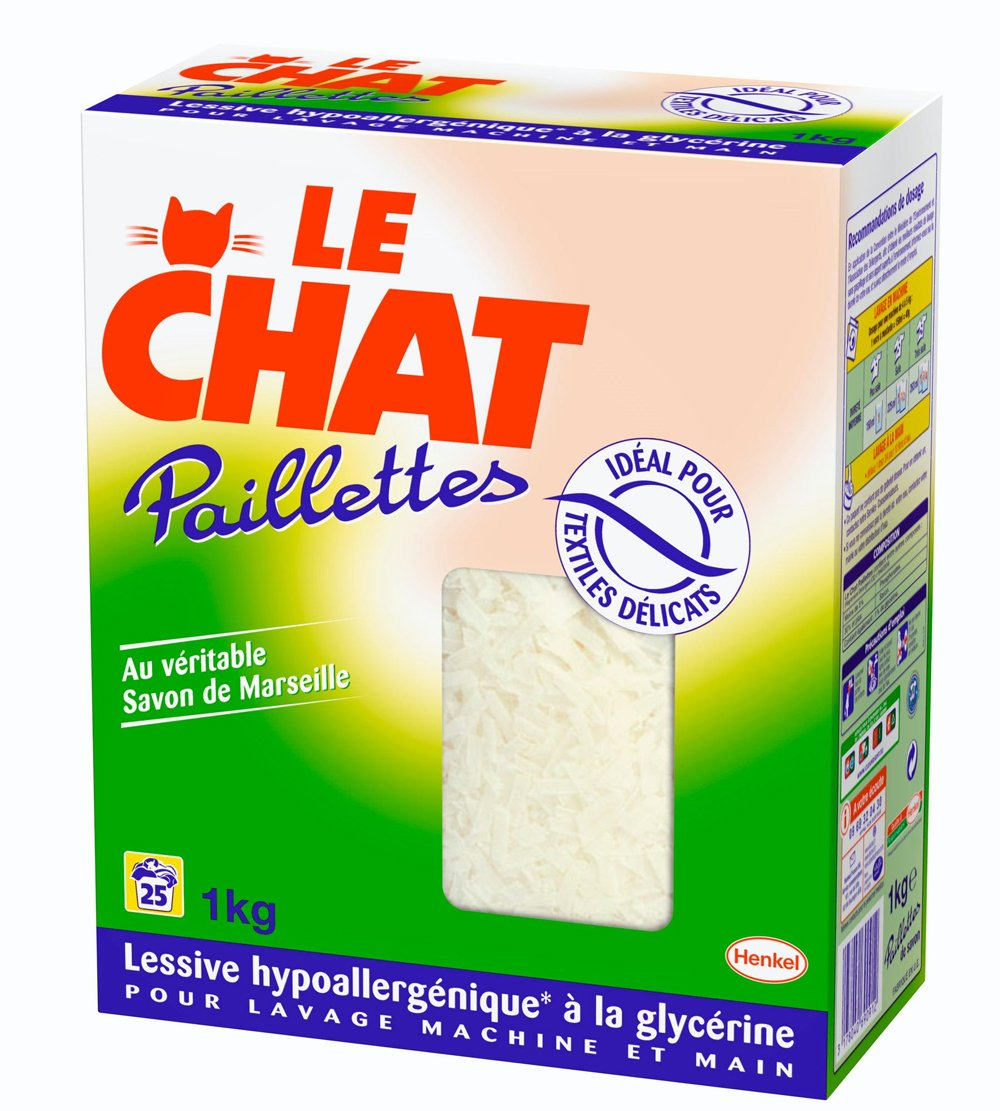 le chat paillette savon de m nage pack 1 kg 25 lavages. Black Bedroom Furniture Sets. Home Design Ideas