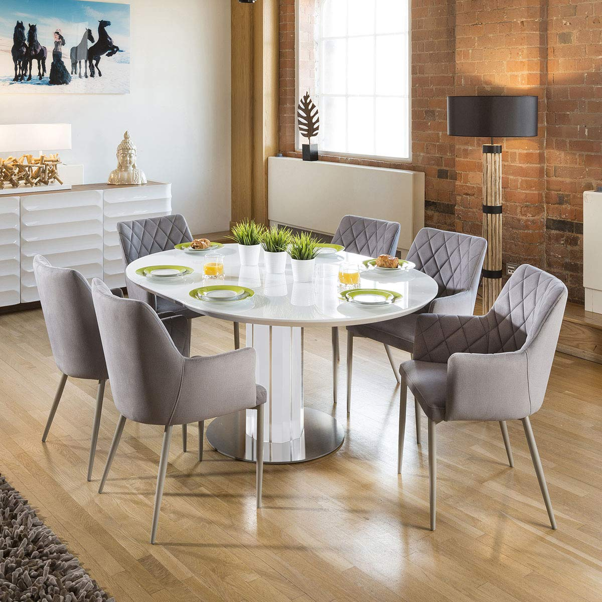 Quatropi Modern Extending Dining Set Ova Buy Online In Guernsey At Desertcart