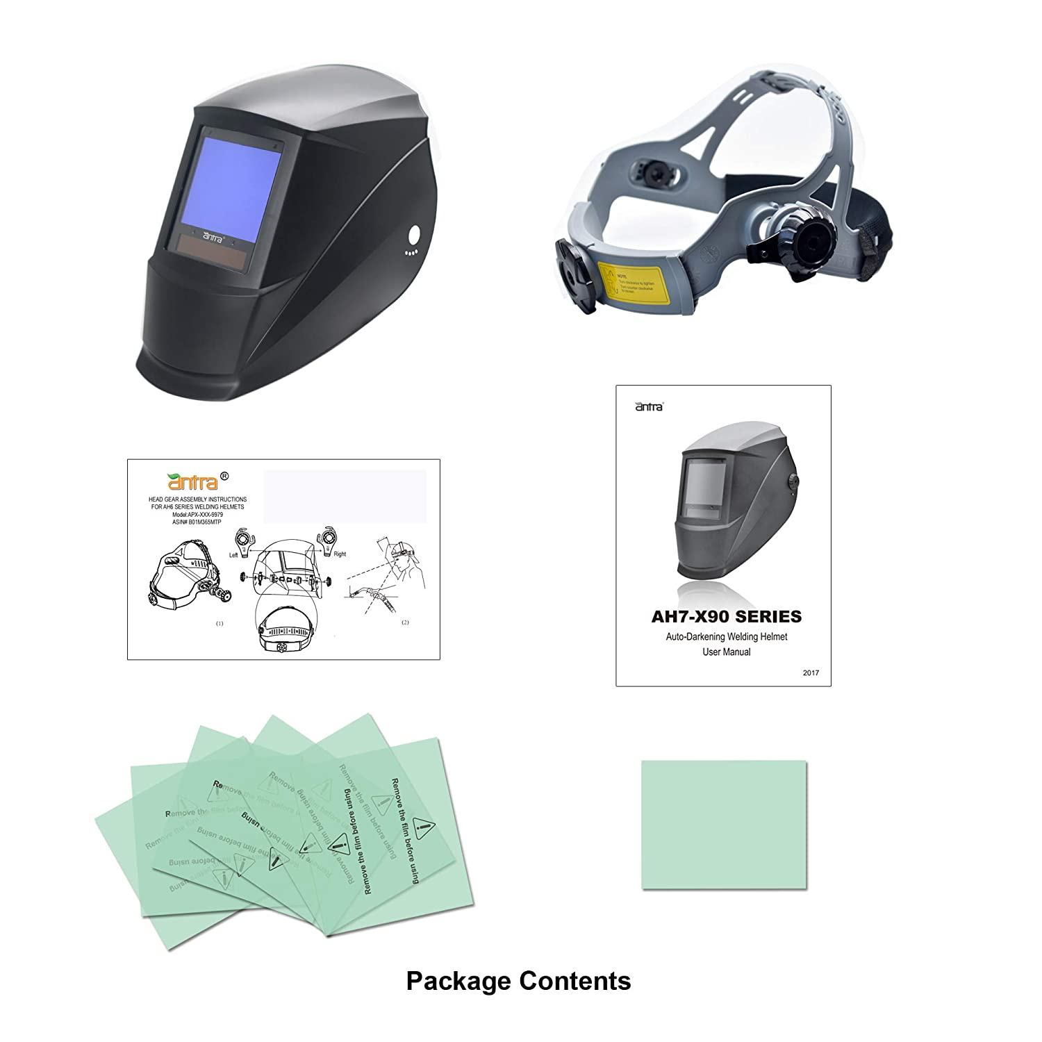 42be37ae6cc35 Antra AH7-X90-0000 TOP Optical Class 1 1 1 1 Digital Controlled Solar  Powered Auto Darkening Welding Helmet Wide Shade 4 5-9 9-13 With Grinding  Feature ...