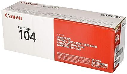 Amazoncom Canon Original 104 Toner Cartridge Black Office Products