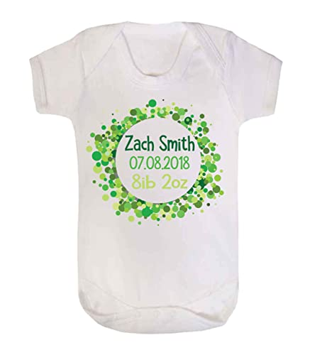 Personalised baby announcement baby vest babygrow new baby gifts personalised baby announcement baby vest babygrow new baby gifts newborn baby gifts personalised babywear hospital outfit negle Images