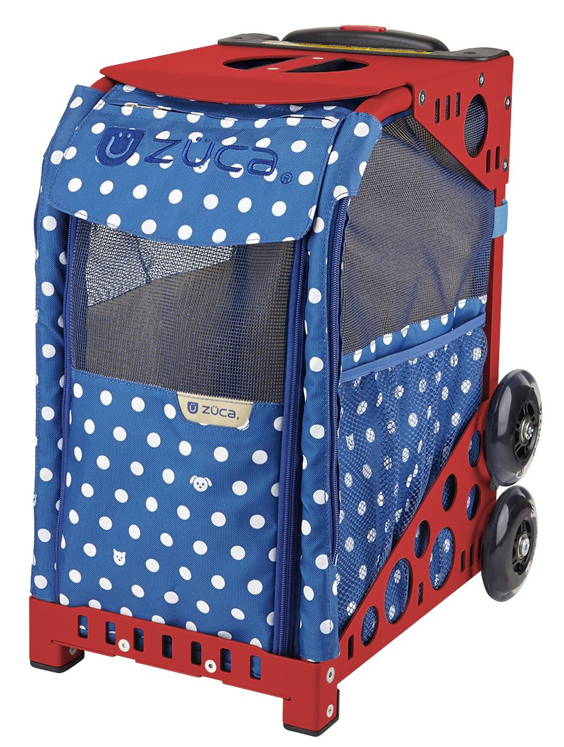 ZUCA Rolling Pet Carrier - Best in Show Bag with Red Sport Frame and Flashing Wheels by ZUCA