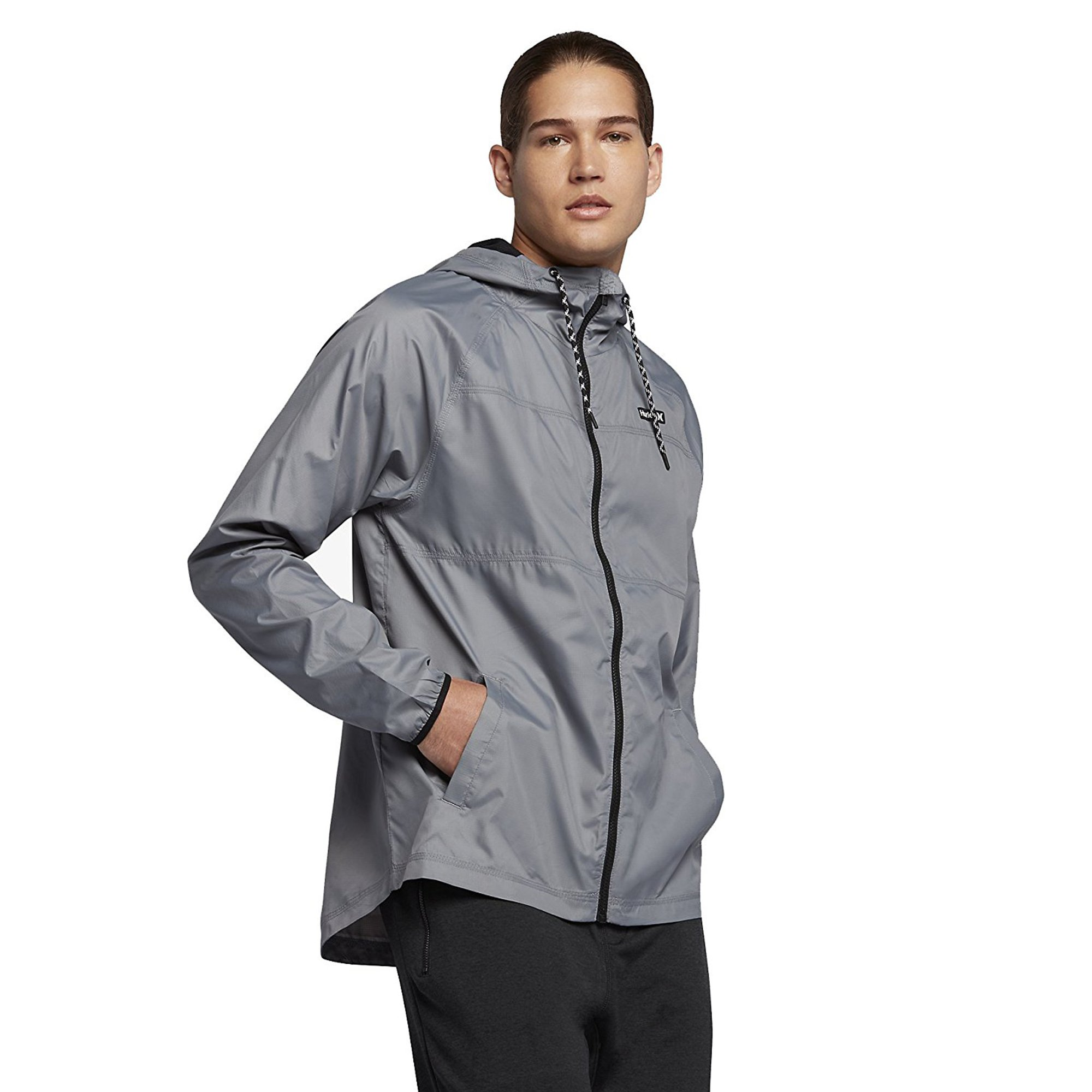 Hurley MJK0002160 Men's Protect Solid Jacket In, Cool Grey - L