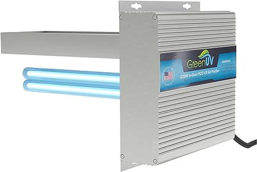 G2000 purificador de Aire Toda la casa TIO2 PCO Filtro fotocatalítico UV luz en conducto para HVAC AC (Aire Acondicionado) conducto germicida: Amazon.es: Hogar