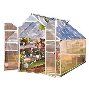 Palram HG5812 Essence Greenhouse, 8' x 12' x 8', Silver