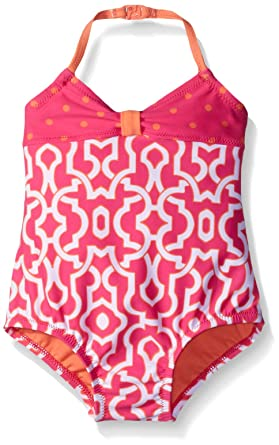 7fccedfa12 Amazon.com: Tommy Bahama Girls' Infant One Piece Halter Swimsuit: Clothing