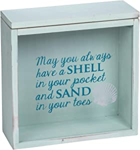 Foreside Home & Garden FDAD06158 Shells & Sand Keepsake Box