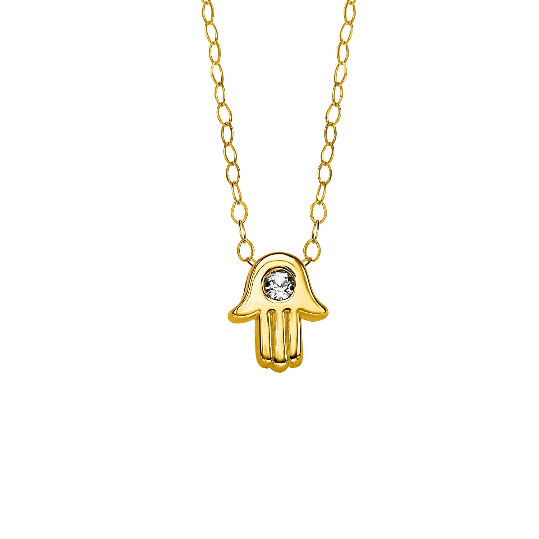 55f3a163401c1 Amazon.com: Crystaluxe Teeny-Tiny Hamsa Pendant Necklace with ...