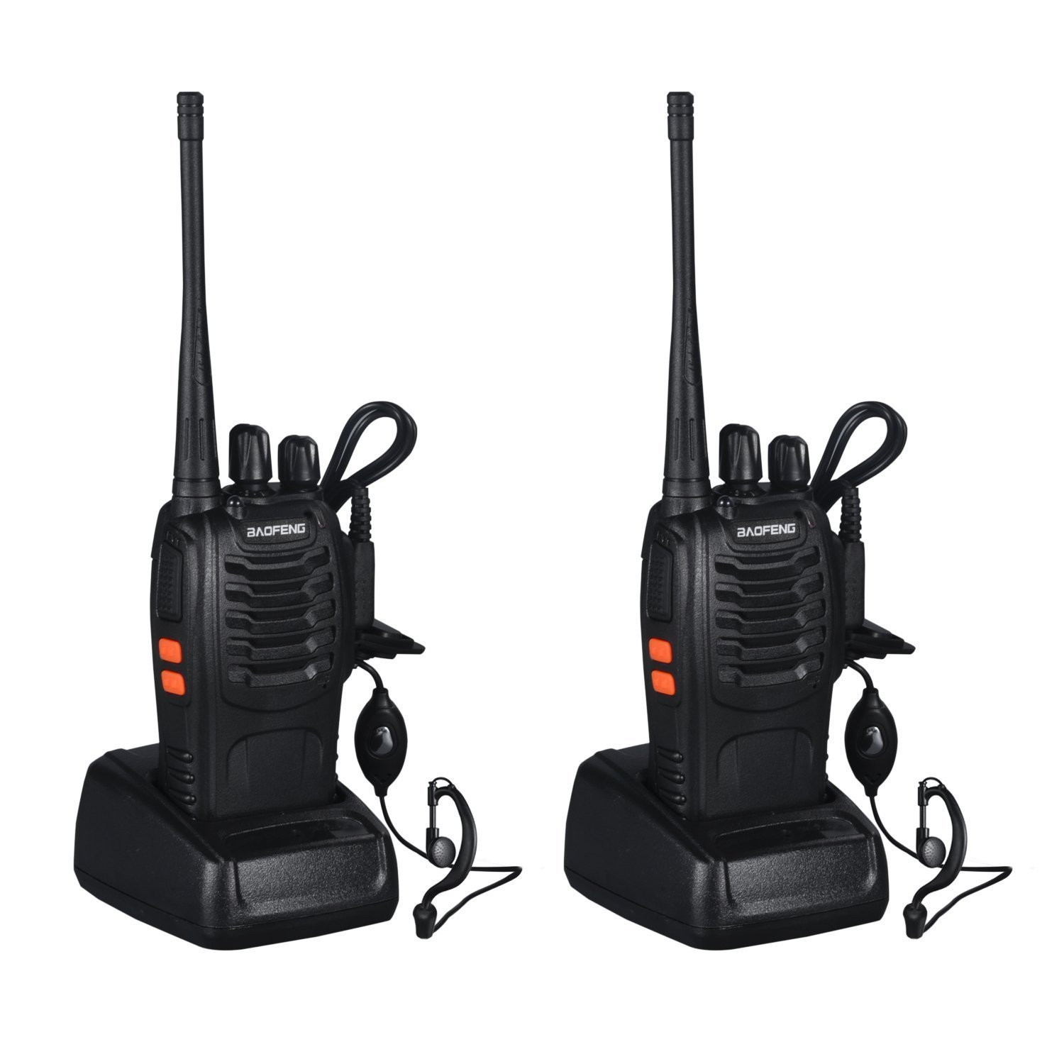 START Walkie Talkies Long Range Two-Way Radios with Earpiece 2 Pack 16 Channel UHF 400-470Mhz Walkie Talkies Li-ion Battery and Charger Included
