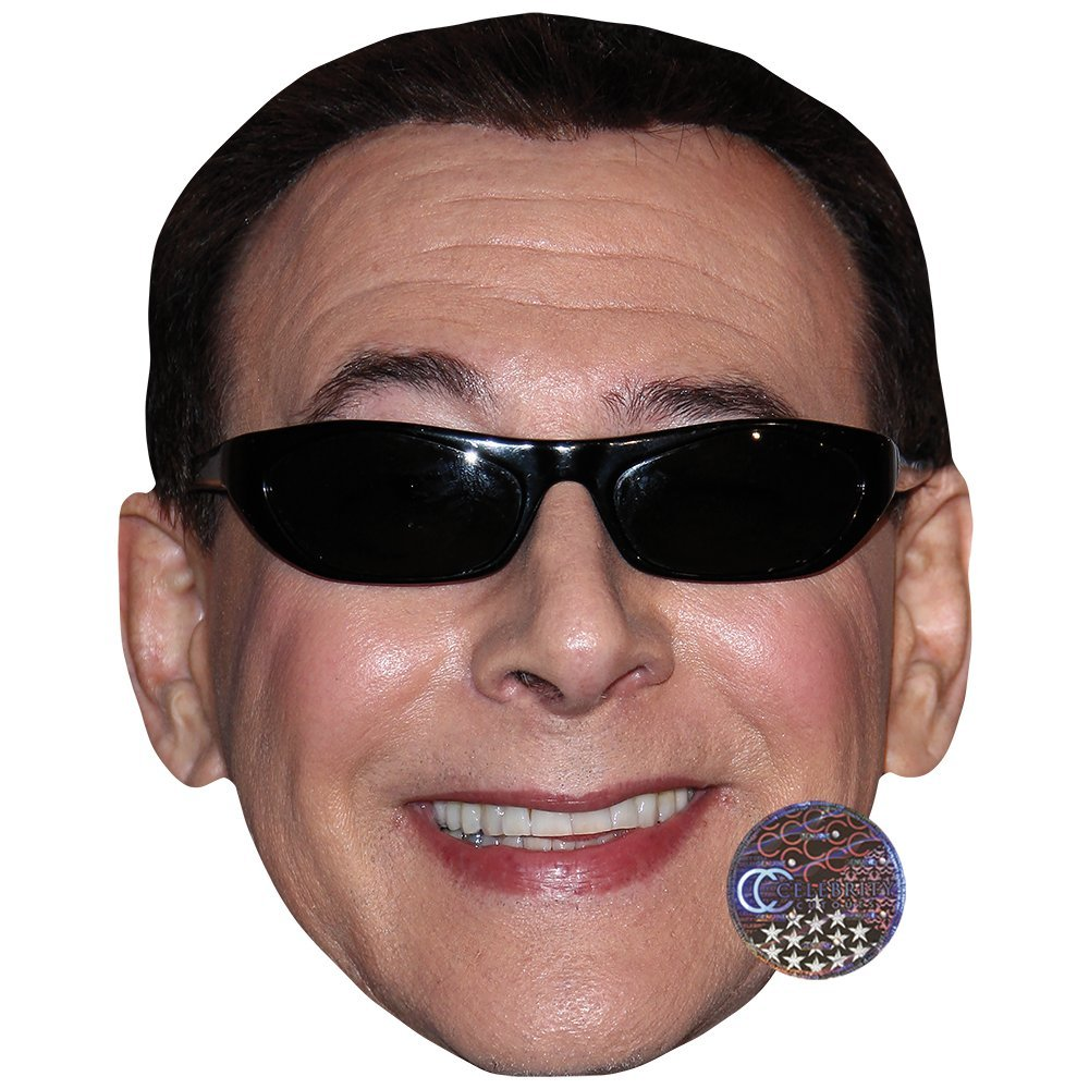 Card Face and Fancy Dress Mask Pee-Wee Herman Celebrity Mask