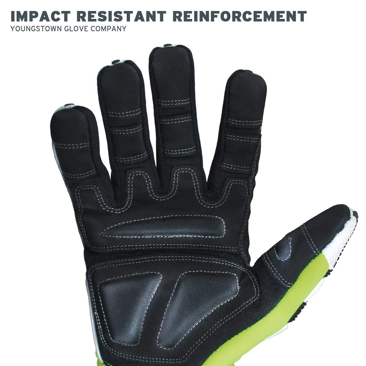 Cut Resistant Gloves Bundle - 1 - Firefighter Extrication Gloves (Large) | 1 - Glove Strap (lime Green) | 1 - Firefighter Journal (Track training hours, Run activities, work, ect.) by Generic (Image #5)