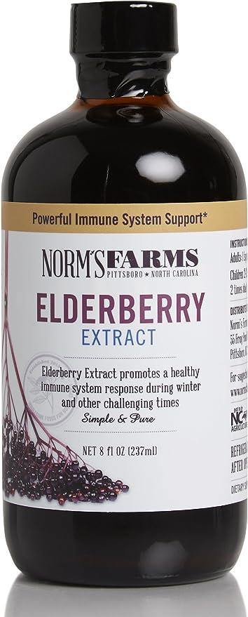 Amazon Com Norm S Farms Elderberry Extract 8 Ounce Jar Health Personal Care
