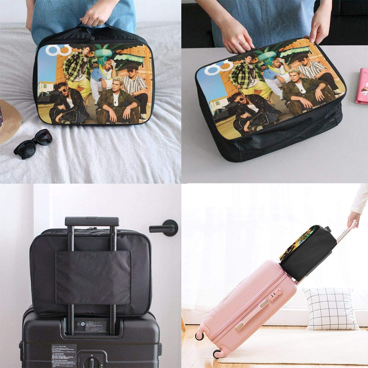Joel-Cn-co Lightweight Large Capacity Portable Luggage Bag Travel Foldable Duffel Bag Women Men