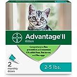 Advantage II Tratamiento y prevención de pulgas de 2 dosis para gatitos, 2-5 libras