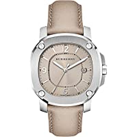 38mm Champagne Leather Date Dial Unisex Men Women Silver Stainless Steel Wrist Watch The Britain BBY1500