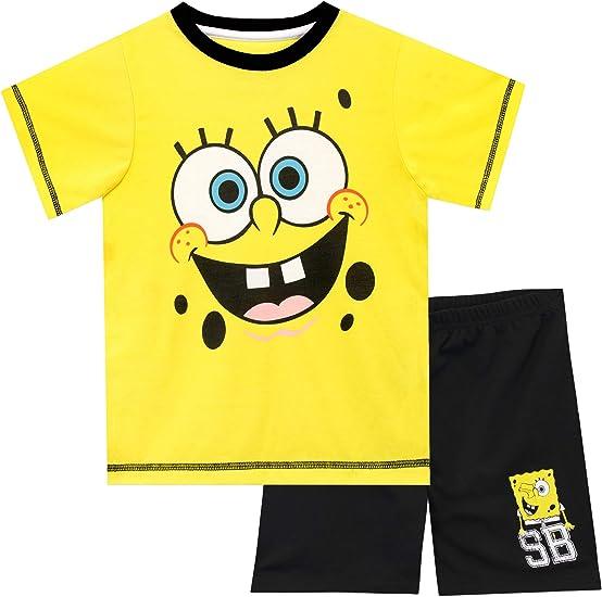 Girls Kids Character Spongebob Pyjamas Pjs Long