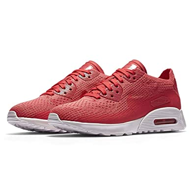 new concept a7e7e baa79 Nike Women s Air Max 90 Ultra 2.0 Flyknit Casual Shoes (Geranium White  Geranium