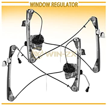 Side Power Window Regulator /& Motor Assembly Fit 99-04 Oldsmobile Alero 99-05 Pontiac Grand Am 2-Door Coupe With Electric Window Lifters Left WIN-2X New 1pc Front Driver