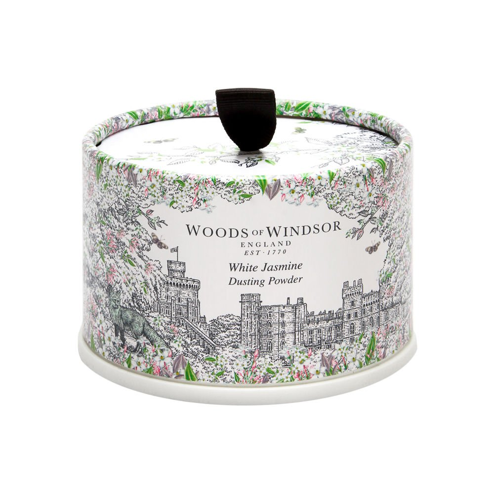 White Jasmine by Woods of Windsor 3.5 oz Body Dusting Powder with Puff by Woods of Windsor