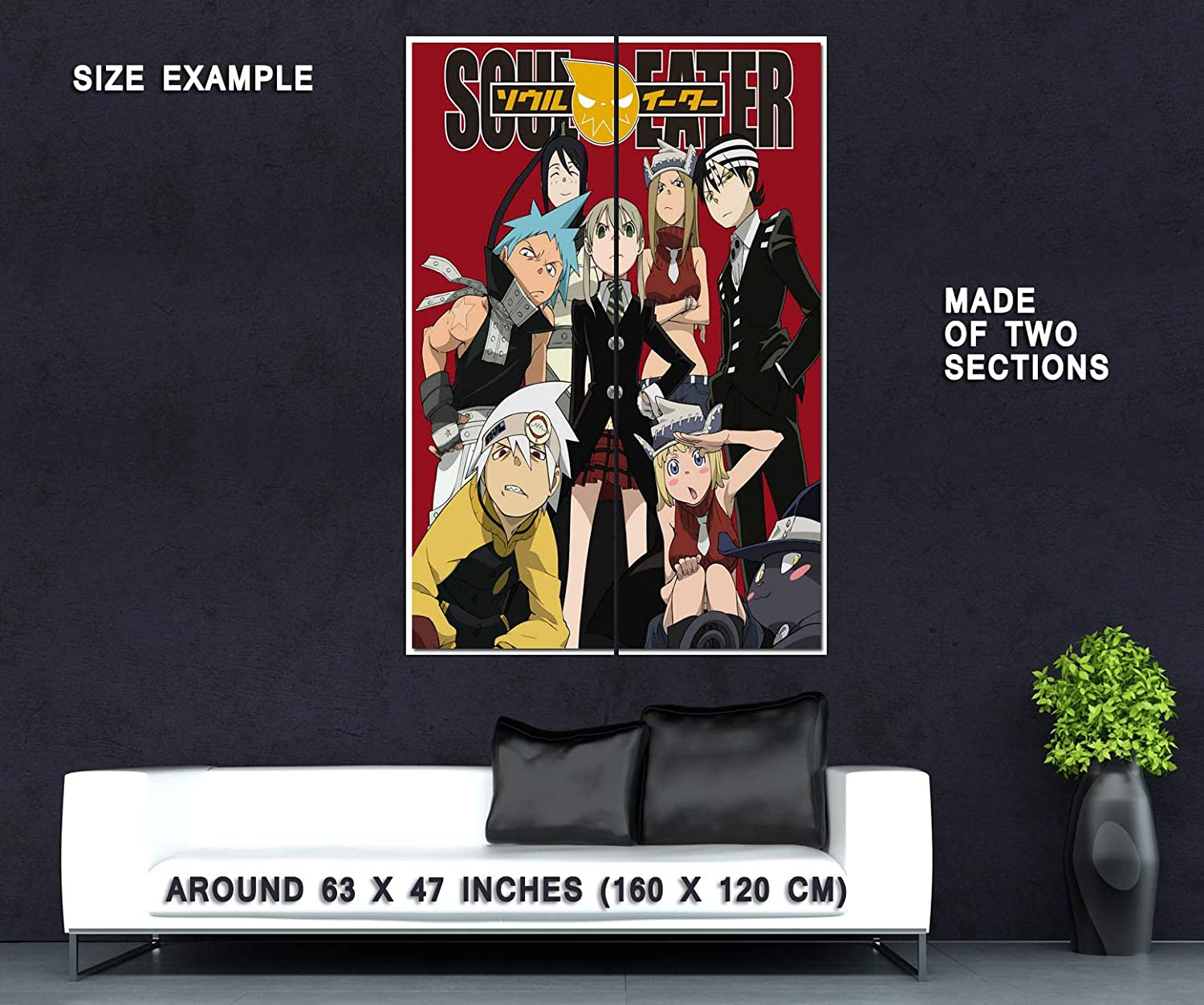 Amazon.com: 80518 Soul Eater Anime Manga Decor Wall 36x24 ...