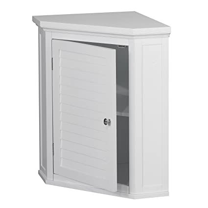 Amazon Com Corner Cabinet With White Shutter Door White Corner