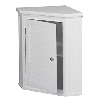 Incredible Amazon Com Corner Cabinet With White Shutter Door White Home Interior And Landscaping Mentranervesignezvosmurscom