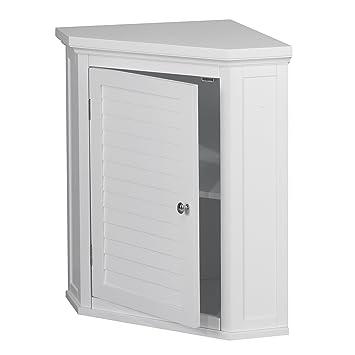 Cool Amazon Com Corner Cabinet With White Shutter Door White Download Free Architecture Designs Crovemadebymaigaardcom