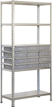 Estantería metálica sin tornillos Simonbox de 5 estantes ...