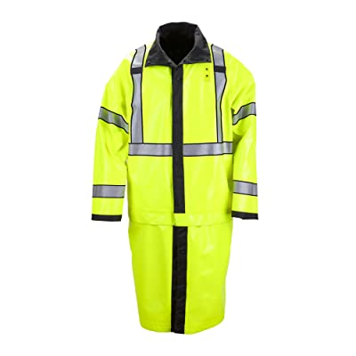 5.11 Tactical Long Reversible Hi-Vis Rain Coat, Nylon Oxford Fabric, Seam-Sealed, Style 48125: Sports & Outdoors