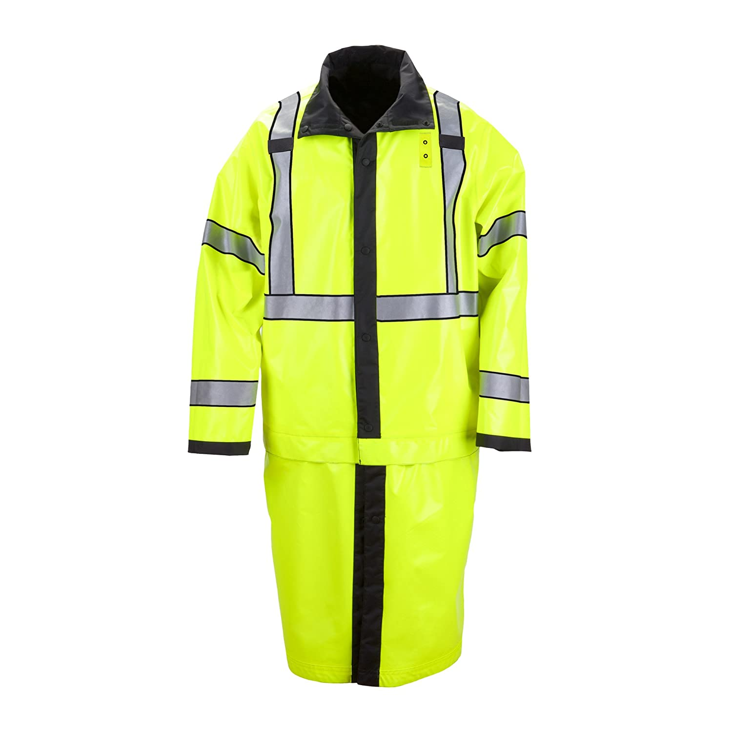 5.11 Men's Long Reversible Ansi Class 3 High Visibility Rain Coat A.C. Kerman - LE