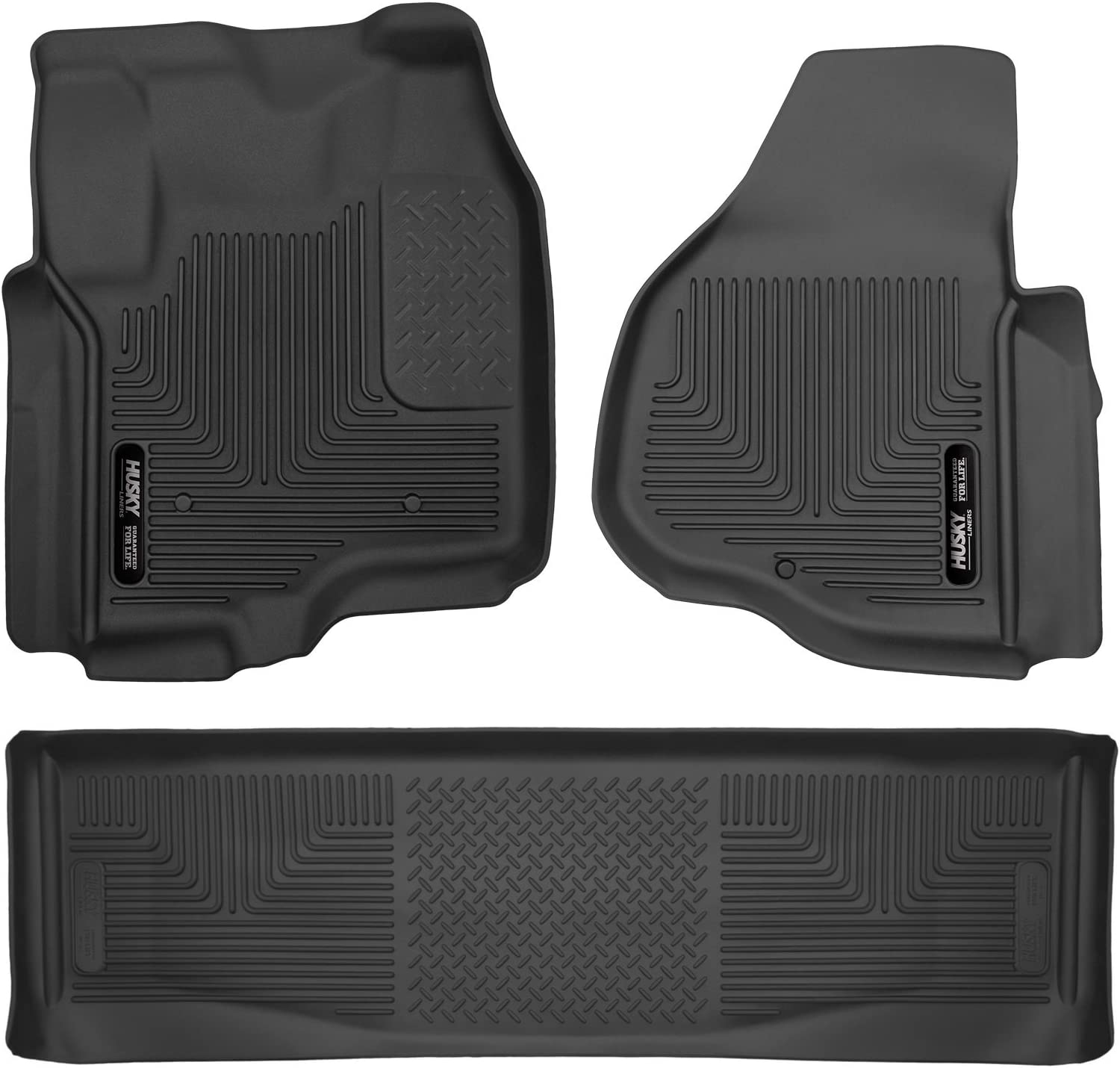 FITS 2017-19 FORD DIESEL CREW /& SUPER CAB HUSKY X-ACT CONTOUR FRONT FLOOR LINER.