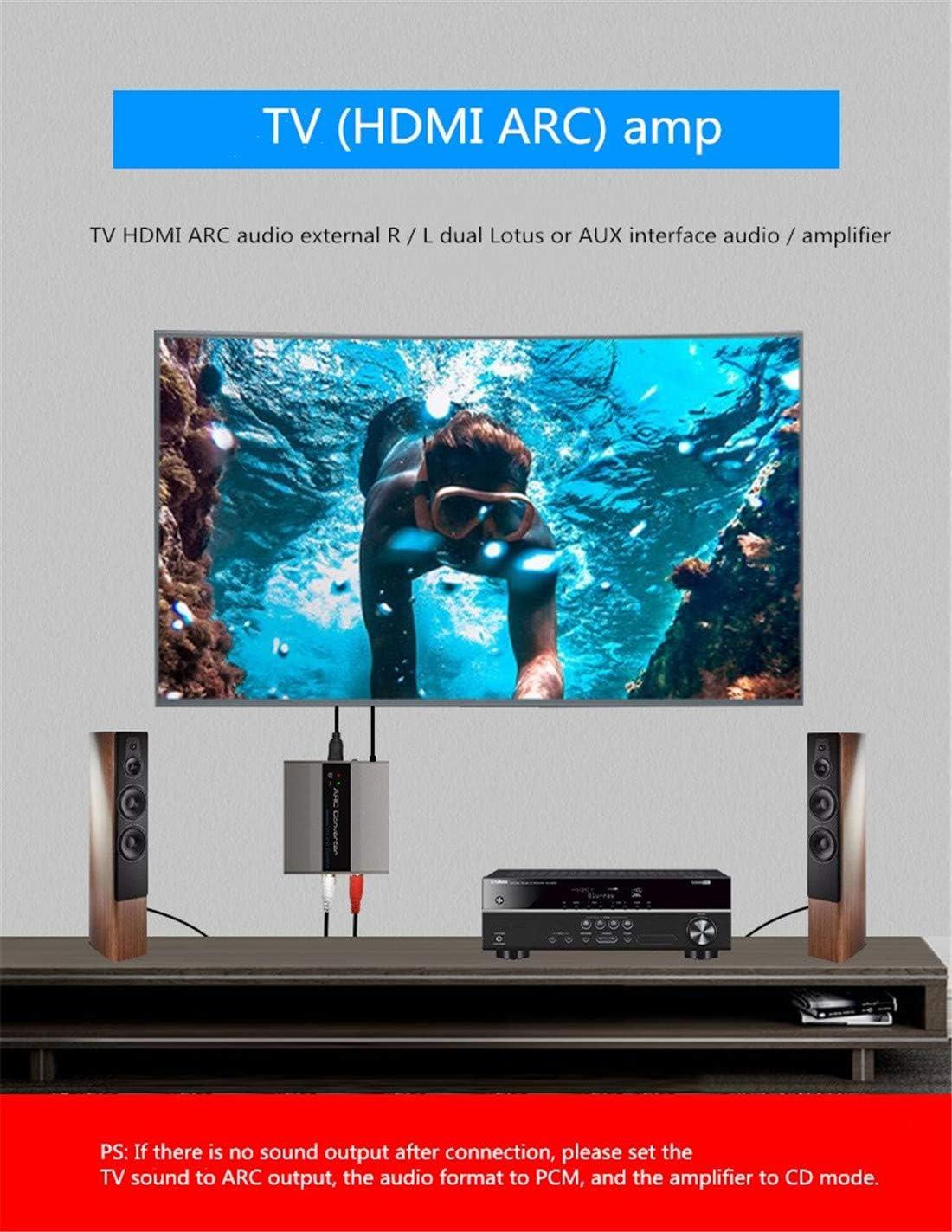 HDMI ARC Audio Converter ARC Audio Return TV/Proyector Amplificador Sonido RL Rojo y Blanco Doble Lotus HDMI ARC a R/L y AUX Audio Converter: Amazon.es: Electrónica