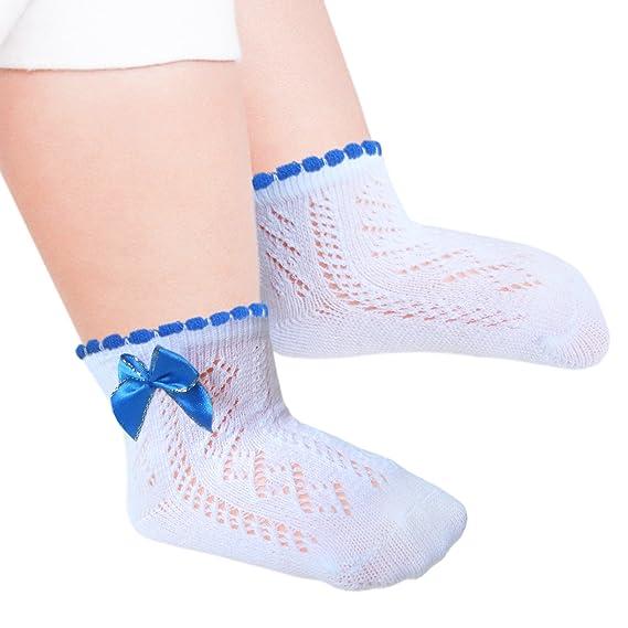 JHosiery Calcetines pointelle bebés niñas con costura plana: Amazon.es: Ropa y accesorios