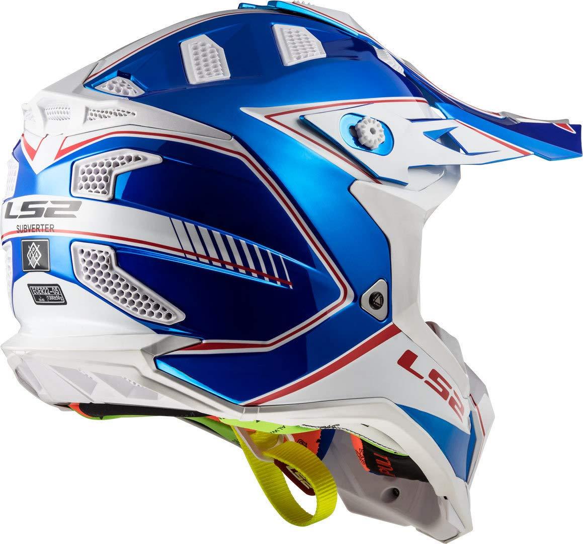 LS2 Caschi Moto MX470 Subverter Power Chrome Blu