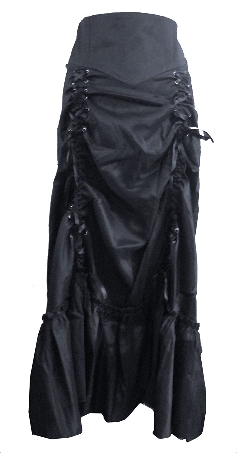 Gothic Long Sateen Corset Skirt