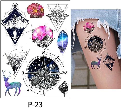 Adgkitb 3pcs Corps Tatouage Flamant Mignon Chat Art Tatouage