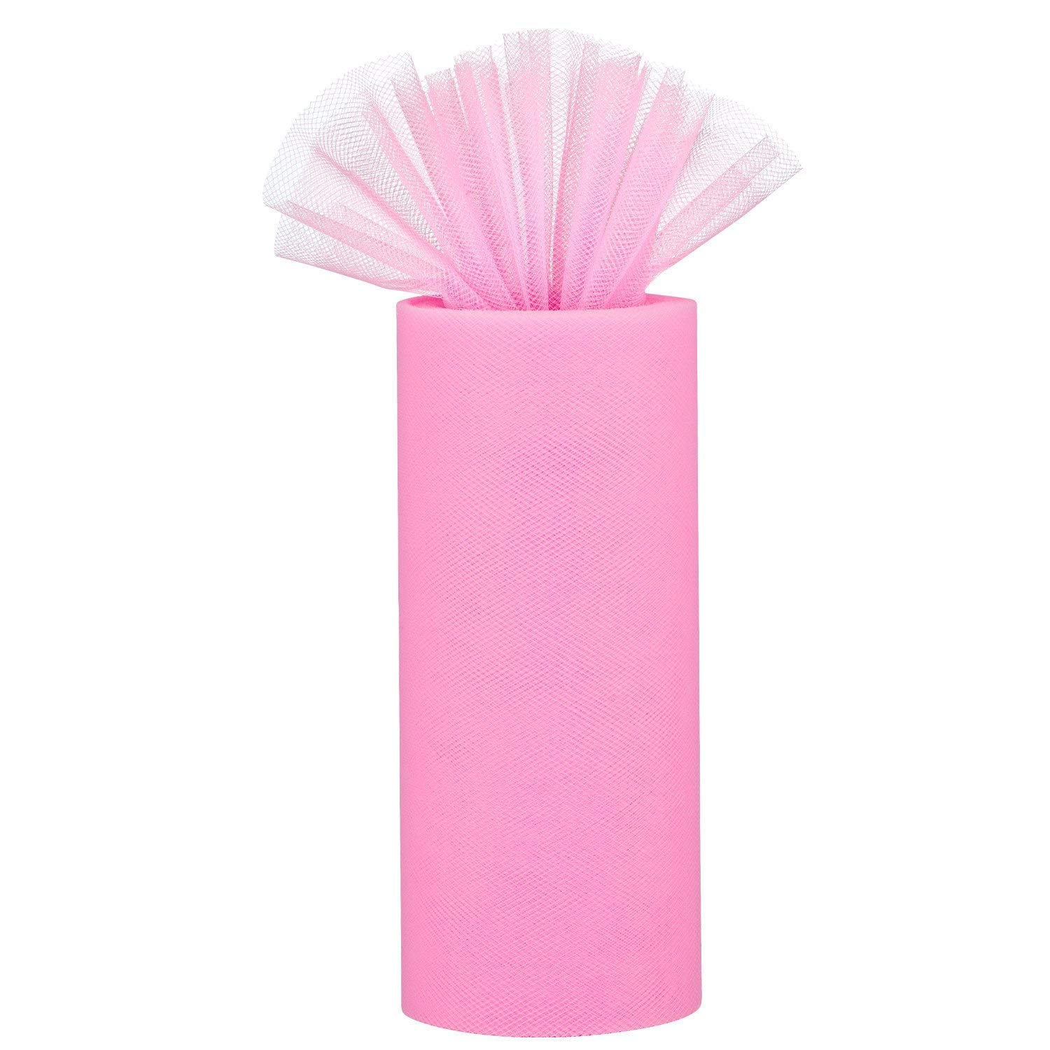 Vordas Tulle Roll 22M * 15CM for Gift Bow Craft Tutu Skirt Wedding Party Decorations Rose Red Tulle Fabric Rolls