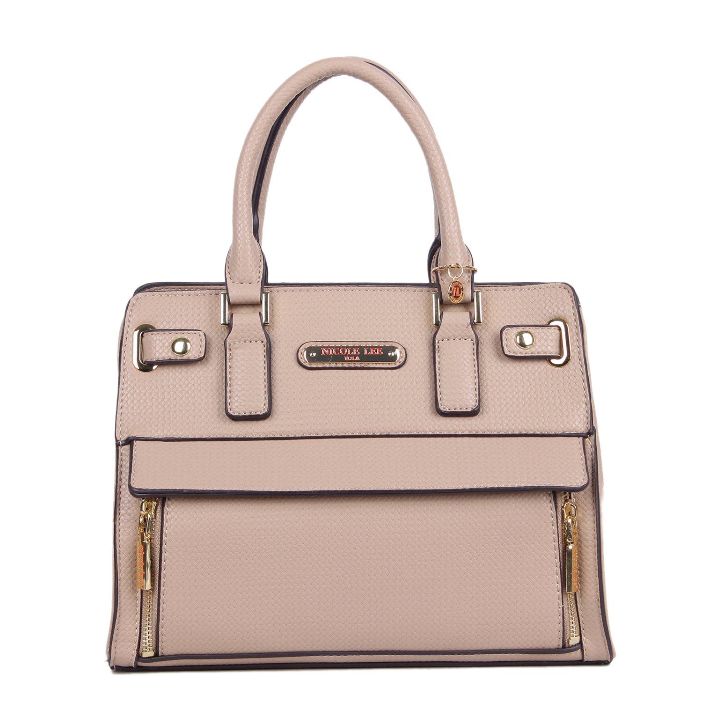 Amazon.com   Nicole Lee Women s Ciel Medium Satchel Smart Lunch Bag (Beige) Travel  Shoulder, One Size   Travel Totes 6371835cac