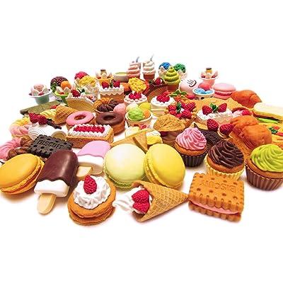 Iwako Assorted Food Cake Dessert Japanese Erasers, 10 Erasers: Toys & Games