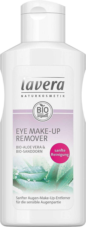 Lavera - Desmaquillante de ojos y tratamiento de pestañas con aloe vera - Indicado para pieles sensibles - Bio 100% certificado 125 ml