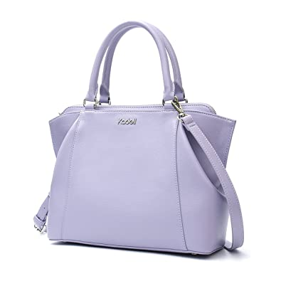 85f6c31b388a Kadell Women s Soft PU Leather Top-handle Handbag Cross Body Shoulder Bags  with Removable Long