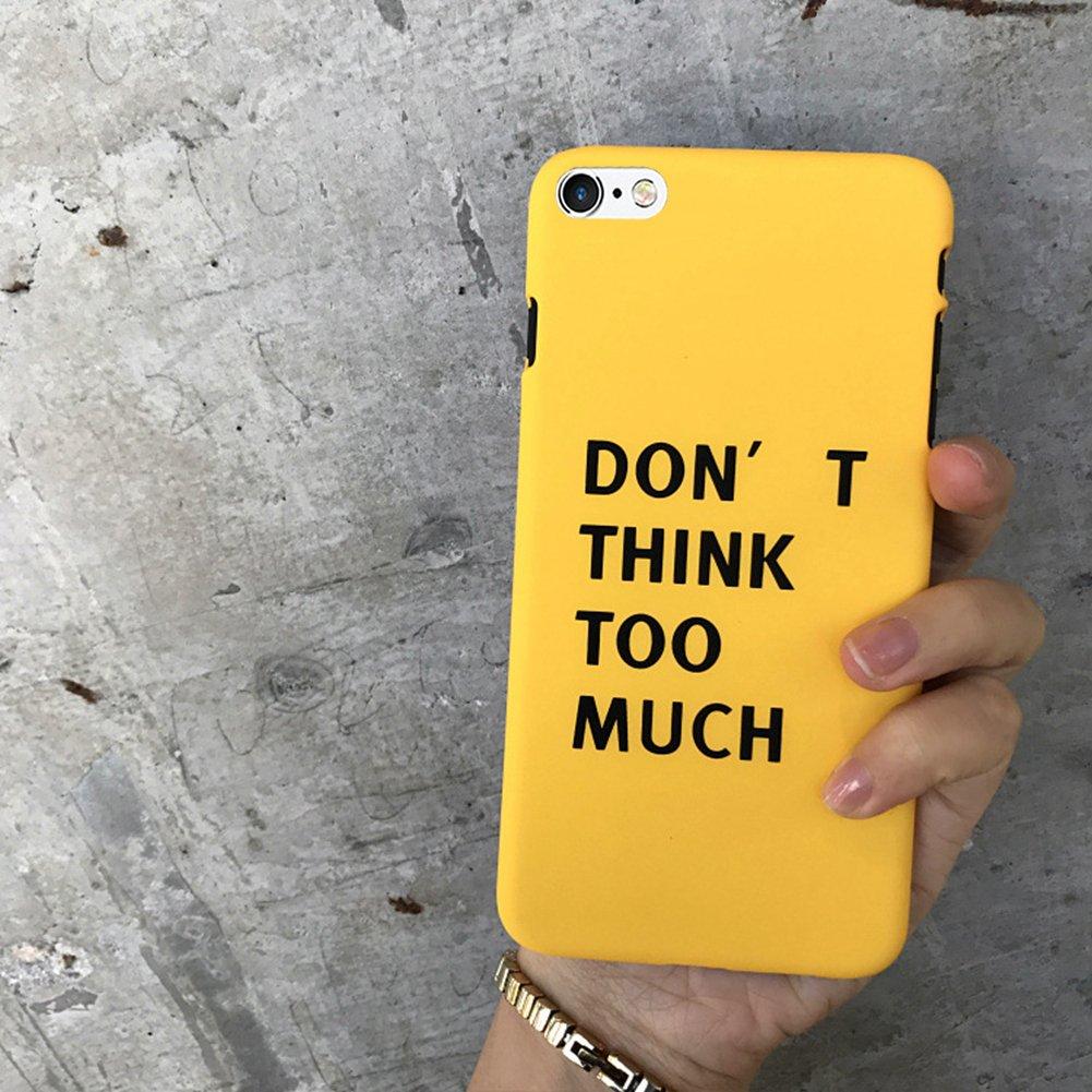EINFFHO Coque iPhone 6 Cré atif Lovely Ultra Mince Dur Coque pour iPhone 6S É tui de Protection Protecteur Bumper Hardcase Plastique Housse É tui pour Apple iPhone 6 / 6S (Lettre, Jaune) iPhone 6 / iPhone 6S