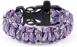 Plastic Quick Release Buckle Emergency Survive Whistle Bracelet Violet