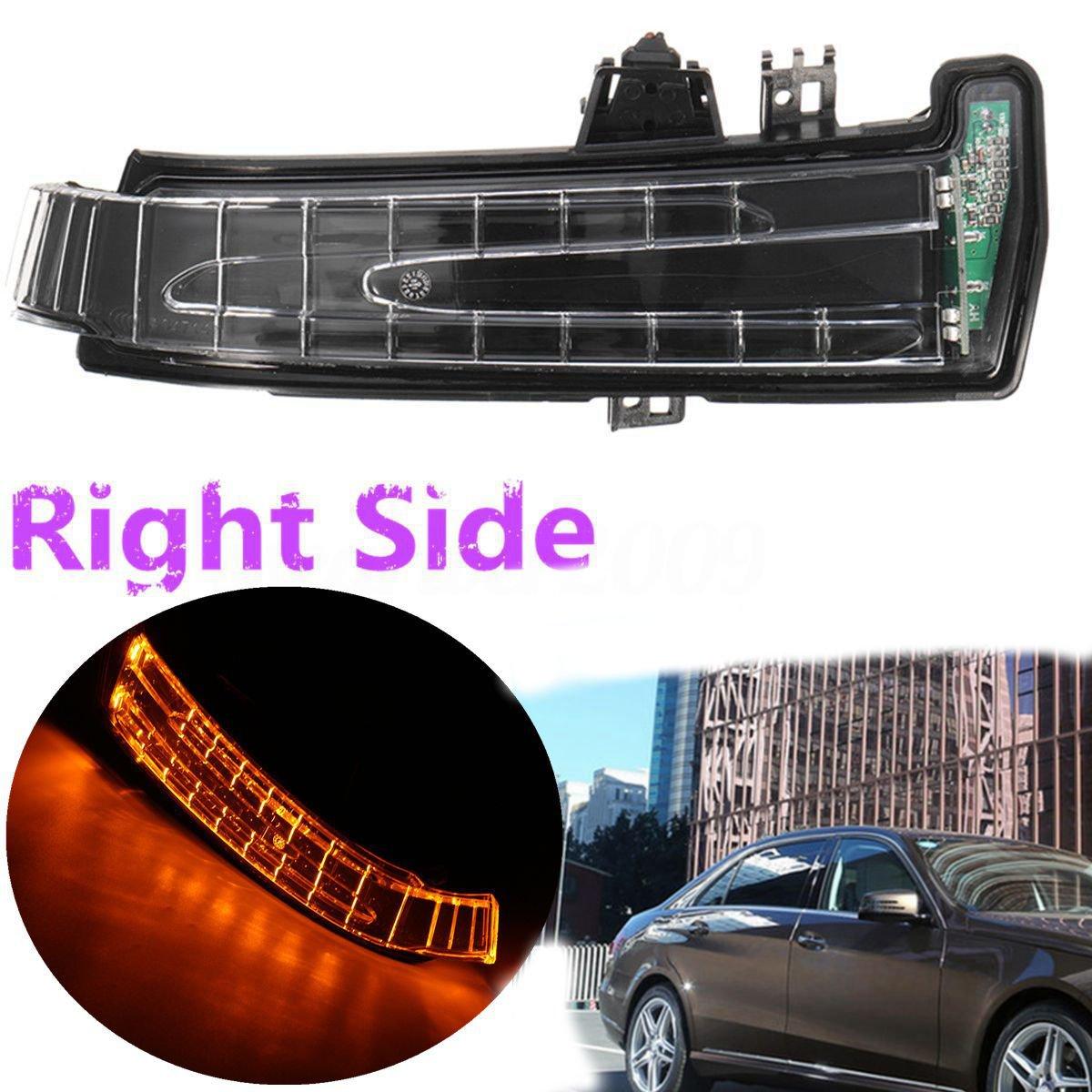 Yuk derecho para W204 W212 W221 W176 W246 X204 W218 LED luz señal de giro lateral espejo marcador lente amarillo luz