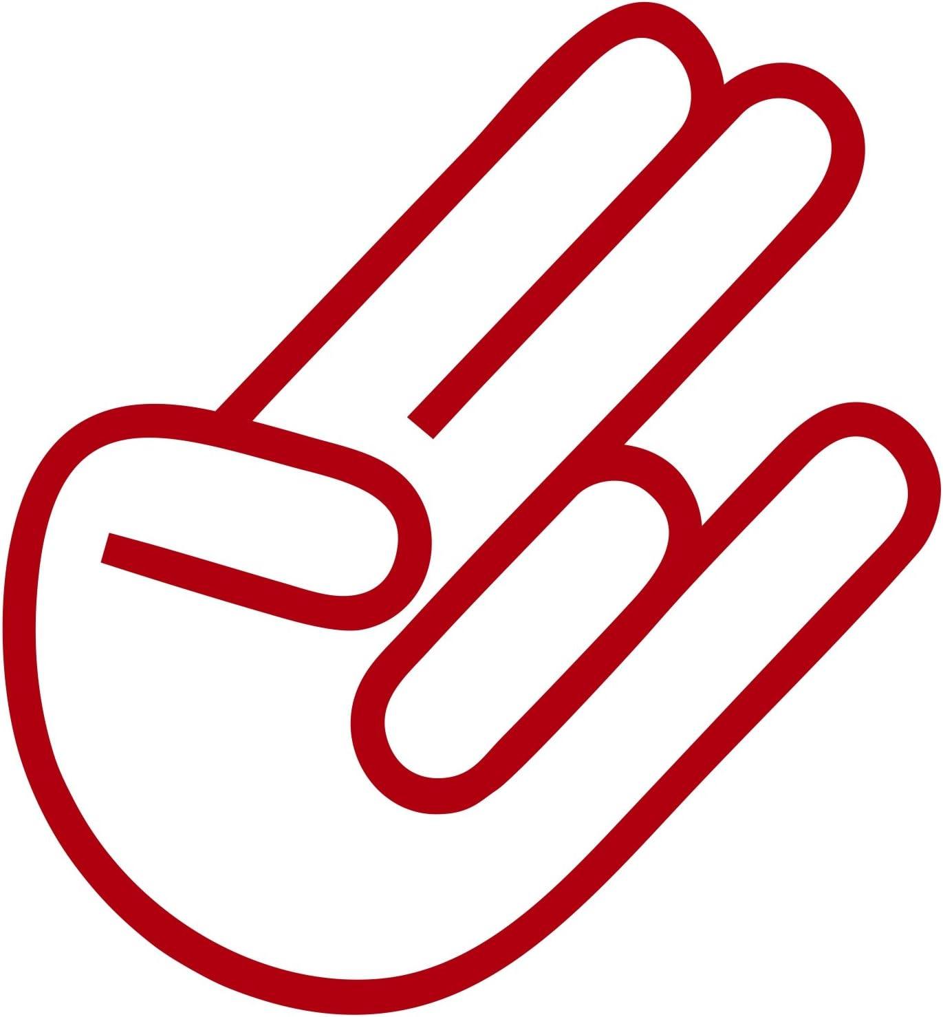 The Shocker Hand Aufkleber Jdm Sticker Dub Kult Oem Autoaufkleber Rot Auto
