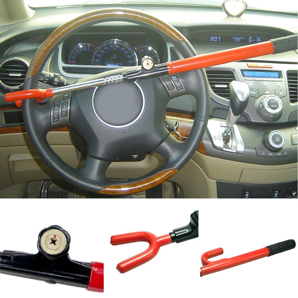 Pickup Trucks AUTLY Universal Anti-Theft Car Steering Wheel Lock Auto Steering Wheel Security Lock for Cars Minivans /& SUVs 5559018034